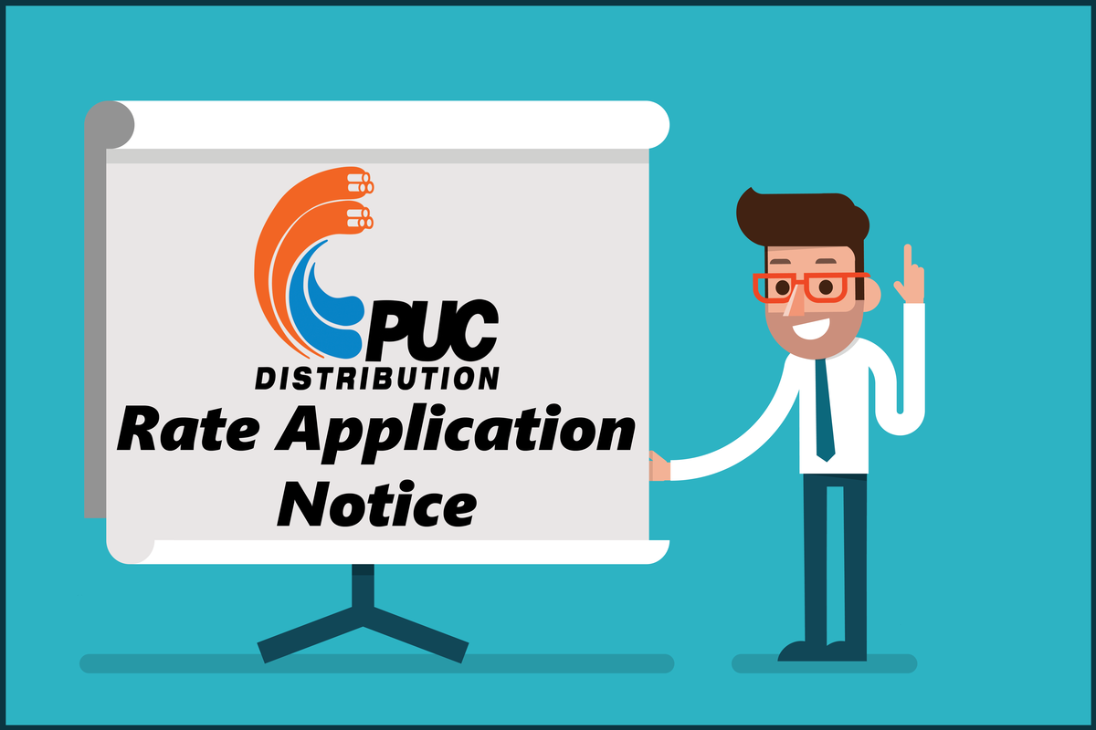 PUC Distribution Rate Application Notice